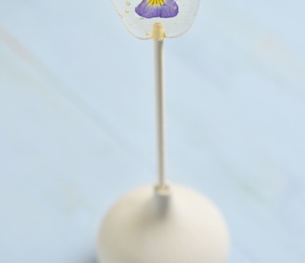 Pansy sugar lollipop