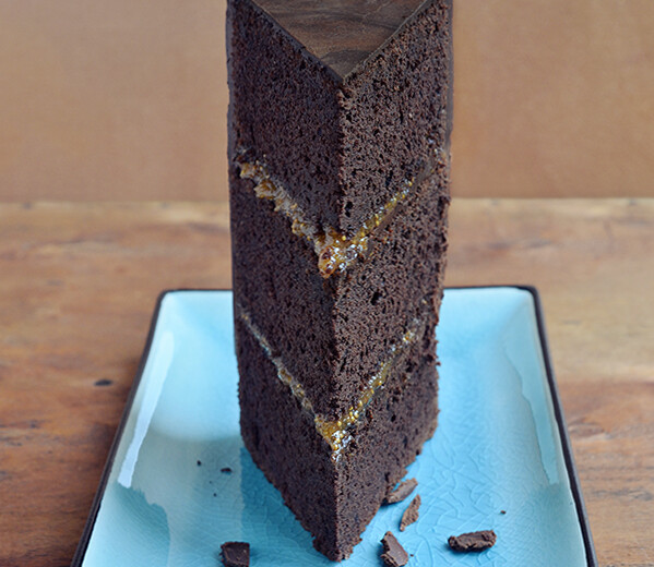 Gluten-free chocolate wedding cake