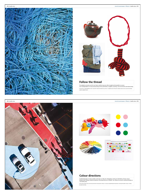 Pages from Textile View Magazine