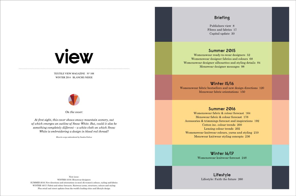 Contents Textile View Magazine 108